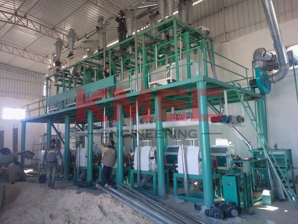 60TPD Wheat Flour Mill Plant In Algeria